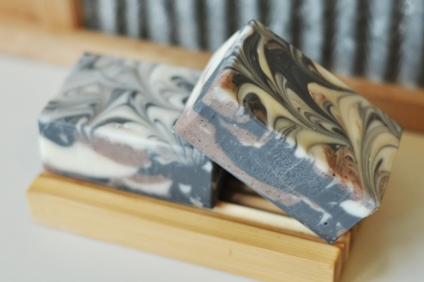 Frankincense & Myrrh Soap with gold swirl